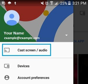 Cast screen audio