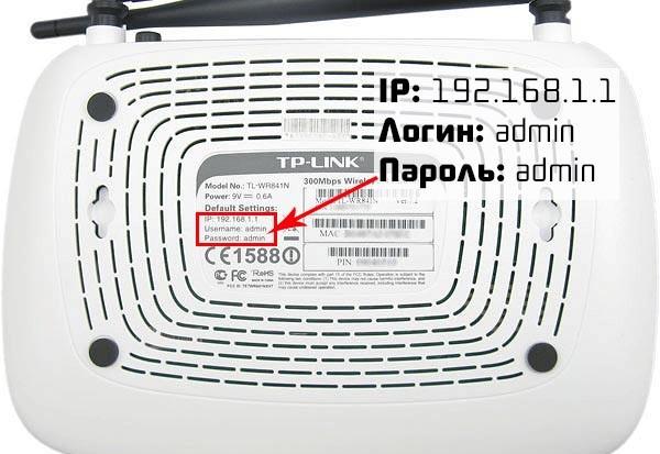 Роутер TP-Link вид снизу