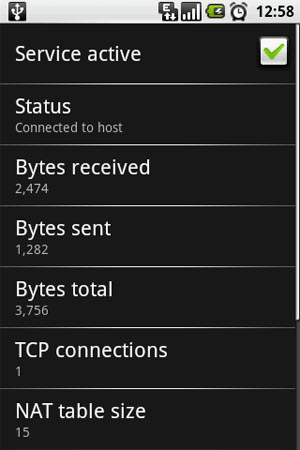 Connected to host