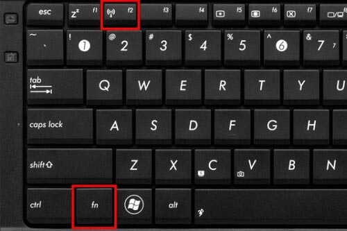 Клавиша включения WiFi