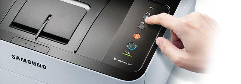 Опция WPS на принтере