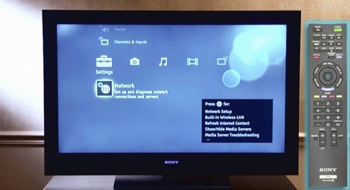 Настройка телевизора Sony