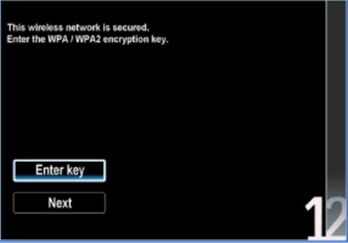 Ввод пароля от wifi на ТВ Philips