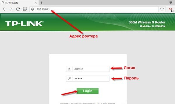 Адрес веб-меню настройки роутера TP-Link