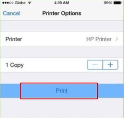 Печать с айфоне