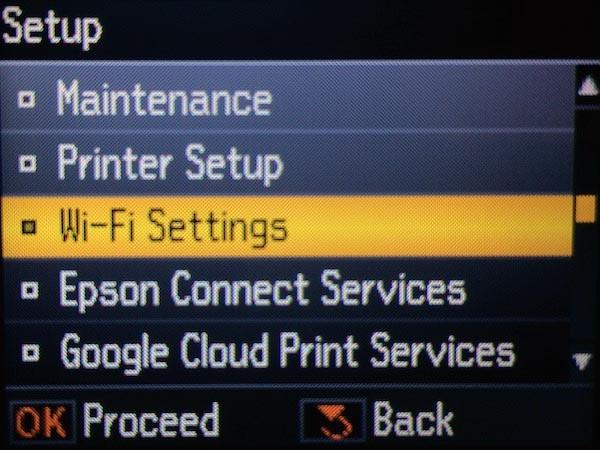 Настройка беспроводного режима на принтере