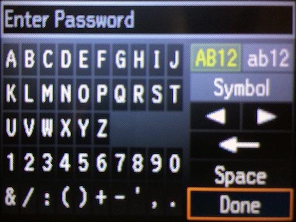 Виртуальная клавиатура на принтере