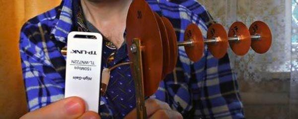 Подключение адаптера к wifi антенне