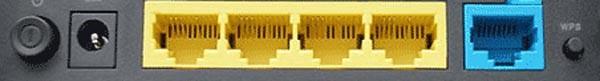 Порты подключения роутера D-Link