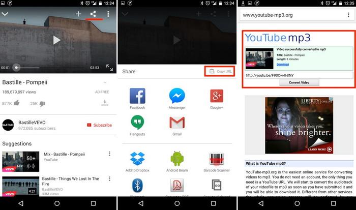 сохранение видео с ютуба на смартфоне