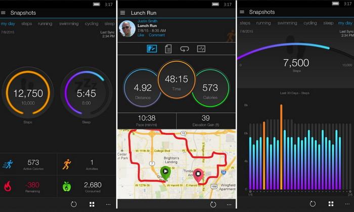 Garmin Connect приложение