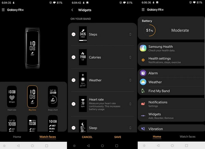 Galaxy Fit Plugin Приложение для фитнес-браслетов от Samsung